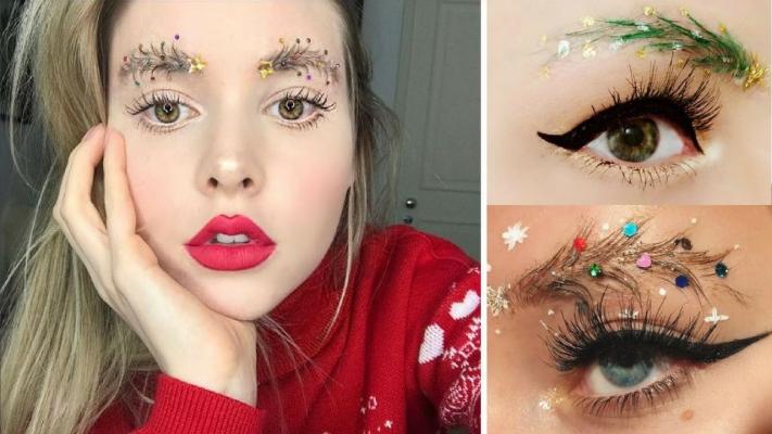 IG网红的最潮「圣诞树眉毛」 你喜欢吗?
